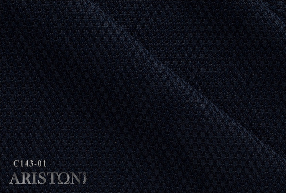 STRUCTRURED BLUE JERSEY(コットン100%) (引用: http://www.aristonfabrics.com/customers/)