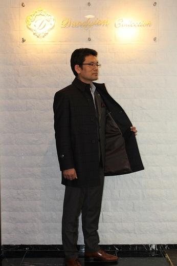 加藤 タリア ブラウンチェックのオーダーコート