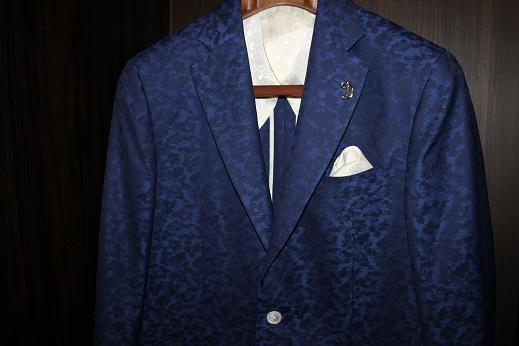 ジャガード柄のゼニアのジャケット5
