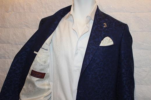 ジャガード柄のゼニアのジャケット6