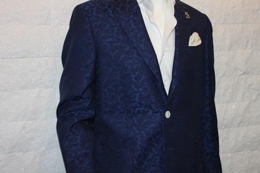 ジャガード柄のゼニアのジャケットはオシャレ1