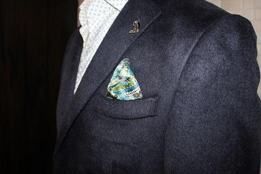 ゼニアsilk100%のジャケット5