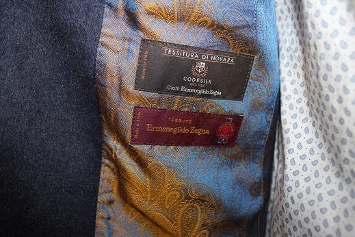 ゼニアsilk100%のジャケット4