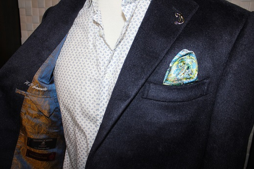 ゼニアsilk100%のジャケット2