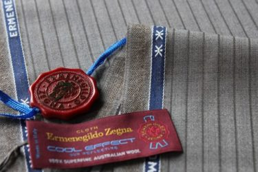 エルメネジルド・ゼニアクールエフェクト(COOL EFFECT)ブラウンスーツ