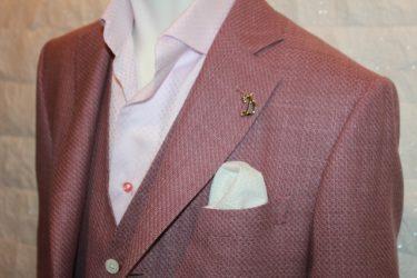 リラックス・リゾート・ゼニアクロスプレイジャケット(zegna cross ply)ピンク
