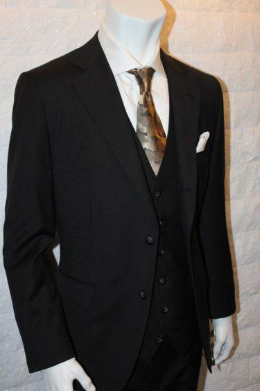 ロロピアーナLoropiana・ブラック3Pスーツ