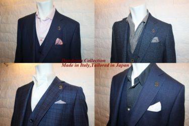 同じ色でも素材で変わるジャケットの色気